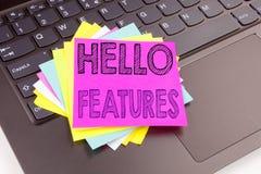 Schreiben kennzeichnet den Text, der in der Büronahaufnahme auf Laptop-Computer Tastatur gemacht wird Geschäftskonzept für Anzeig Lizenzfreie Stockfotos