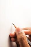Schreiben mit Bleistift Lizenzfreie Stockfotografie