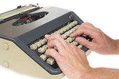 Schreiben mit Schreibmaschine Lizenzfreies Stockfoto