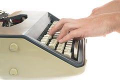 Schreiben mit Schreibmaschine Lizenzfreie Stockbilder