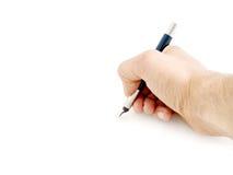 Schreiben mit Stift Stockfoto