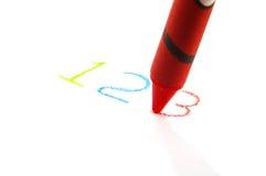Schreiben Sie 123 Lizenzfreies Stockbild