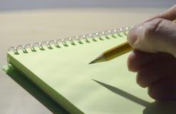 Schreiben Sie Stockbild