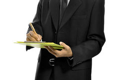 Schreiben Sie auf das Klemmbrett Lizenzfreie Stockfotos