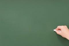 Schreiben Sie ein Tafelleerzeichen Lizenzfreies Stockbild