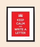 Schreiben Sie einen Buchstabehintergrund Lizenzfreies Stockbild