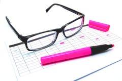 Schreiben Sie einen Unternehmensplan Lizenzfreies Stockbild