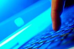 Schreiben Sie ihm Tastatur Lizenzfreie Stockfotos