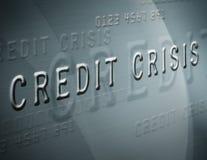 Schreiben Sie Krise gut Stockbild