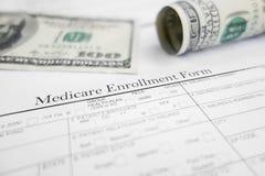 Schreiben Sie in Medicare ein Lizenzfreies Stockfoto