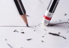 Schreiben Sie und löschen Sie lizenzfreie stockfotos