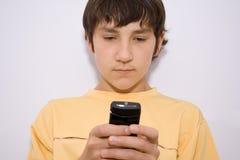 Schreiben sms Lizenzfreies Stockfoto