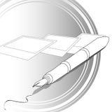 Schreiben u. Fotographie lizenzfreie abbildung