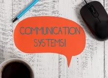 Schreiben von Anmerkungsvertretung Kommunikationssystemen Gesch?ftsfoto Pr?sentationsinformationsflussgebrauch der Maschine zu ?b lizenzfreies stockfoto