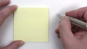 Schreiben von a, um Liste zu tun stock video
