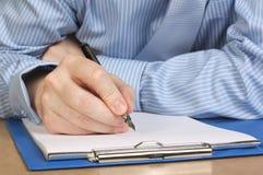 Schreibens-Anmerkungen Lizenzfreies Stockbild