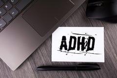 Schreibensanmerkung, die Adhd zeigt Geschäftsfoto Präsentationslernen einfacher für das Kinderunterrichten nicht mehr eine schwie Stockbilder