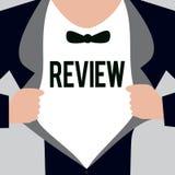 Schreibensanmerkung, die Bericht zeigt Präsentationseinschätzung des Geschäftsfotos von etwas Absicht von Änderung gegebenenfalls lizenzfreie abbildung