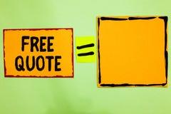 Schreibensanmerkung, die freies Zitat zeigt Das Geschäftsfoto, das kurze Phrase A zur Schau stellt, die ist, hat normalerweise di stockbilder