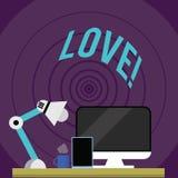 Schreibensanmerkung, die Liebe zeigt Geschäftsfoto, das sexuelles Zubehör Roanalysistic intensive Neigung des Gefühls tiefe zur S lizenzfreie abbildung