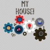 Schreibensanmerkung, die mein Haus zeigt Präsentationsplatz des Geschäftsfotos, den Sie bequem glauben können, Leben kochend und  vektor abbildung