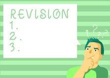 Schreibensanmerkung, die Revision zeigt Geschäftsfoto, das korrigierte Ausgabe oder Form etwas Aktion des Verbesserns von Korrekt stock abbildung