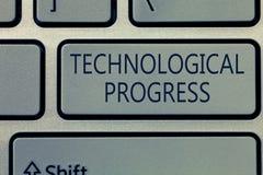 Schreibensanmerkung, die technologischen Fortschritt zeigt Geschäftsfoto, das Gesamtprozeß der Erfindungs-Innovations-Diffusion z stockbild