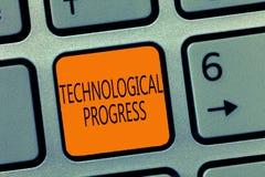 Schreibensanmerkung, die technologischen Fortschritt zeigt Geschäftsfoto, das Gesamtprozeß der Erfindungs-Innovations-Diffusion z stockfotografie