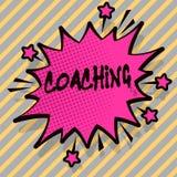 Schreibensanmerkung, welche die Anleitung zeigt Die Geschäftsfotopräsentation bereiten sich erleuchtet kultivieren das Schärfen a lizenzfreie abbildung
