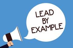 Schreibensanmerkungs-Vertretung Führung durch Beispiel Die Geschäftsfotopräsentation ist ein Mentor, den Führer den Regeln geben  stock abbildung