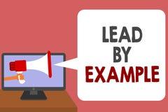 Schreibensanmerkungs-Vertretung Führung durch Beispiel Die Geschäftsfotopräsentation ist ein Mentor, den Führer den Regeln geben  vektor abbildung