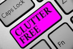 Schreibensanmerkungs-Vertretung Unordnung geben frei Geschäftsfoto, das gut organisiertes und vereinbartes sauberes alle Sachen i lizenzfreie stockfotografie