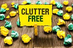 Schreibensanmerkungs-Vertretung Unordnung geben frei Geschäftsfoto, das gut organisiertes und vereinbartes sauberes alle Sachen i stockbild