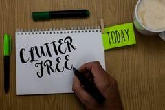 Schreibensanmerkungs-Vertretung Unordnung geben frei Geschäftsfoto, das gut organisiertes und vereinbartes sauberes alle Sachen i stockfotos