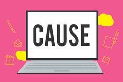 Schreibensanmerkungs-Vertretung Ursache Geschäftsfoto, das Person Thing zur Schau stellt, der ein Aktionsphänomen und -zustand ve stock abbildung