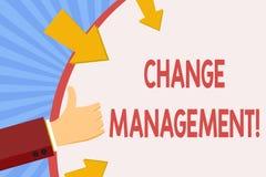 Schreibensanmerkungsvertretung Änderungs-Management Zur Schau stellendes Geschäftsfoto, Führungen oder Leute-verantwortlichen Ers lizenzfreie abbildung