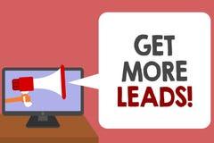 Schreibensanmerkungsvertretung erhalten mehr Führungen Die Geschäftsfotopräsentation suchen neuen Kundenkundennachfolger Marketin lizenzfreie abbildung