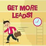 Schreibensanmerkungsvertretung erhalten mehr Führungen Verbraucherinteressen- oder -untersuchungsprodukte des Geschäftsfotos Präs vektor abbildung