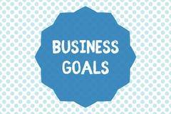 Schreibensanmerkungsvertretung Unternehmensziele In einem spezifischen Zeitabschnitt zu vollenden Geschäftsfoto Präsentationserwa stock abbildung