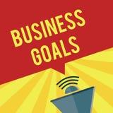 Schreibensanmerkungsvertretung Unternehmensziele In einem spezifischen Zeitabschnitt zu vollenden Geschäftsfoto Präsentationserwa lizenzfreie abbildung