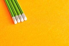 Schreibensbleistifte mit Radiergummis am Tipp Lizenzfreies Stockbild