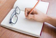 Schreibensbuchstabe Stockbilder