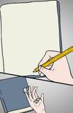 Schreibensillustration Stockbild