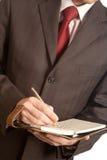 Schreibensplan lizenzfreies stockfoto