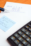 Schreibensprüfung an der Schule Stockfoto