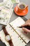 Schreibenstagesordnung Lizenzfreie Stockfotos