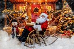 Schreibensweihnachtswünsche stockfoto