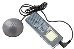 Schreiber MP3 auf Weiß Stockfotos