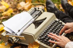 Schreibmaschine Stockfotografie