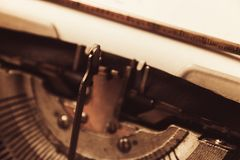 Schreibmaschine in der Retro- Art Nahaufnahme, Retrostil Stockfoto